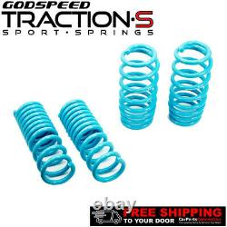 Godspeed Project Traction-S Lowering Springs For DODGE CHARGER 11-19 V6 RWD