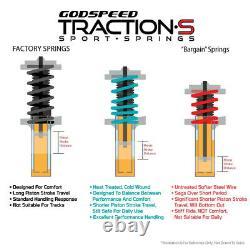 Traction-S Sport Springs For DODGE CHARGER 11-19 V6 RWD Godspeed# LS-TS-DE-0006