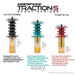 Traction-S Sport Springs For TOYOTA COROLLA Sedan 14-19 Godspeed# LS-TS-TA-0005