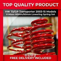 Vw T5 Transporter 03-15 V-maxx Vmaxx 60mm Performance Sports Lowering Springs