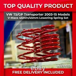 Vw T5 Transporter T5.1 V-maxx Vmaxx 45mm Sports Performance Lowering Springs