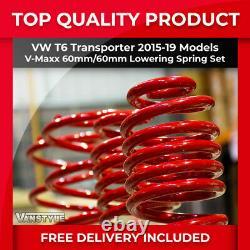 Vw T6 Transporter 15-19 V-maxx Vmaxx 60mm Performance Sport Lowering Spring Set
